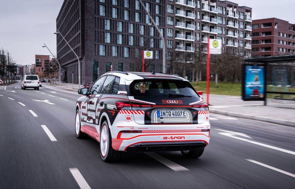 Audi Q4 e-tron: primele imagini și informații din interiorul SUV-ului electric - Poza 42
