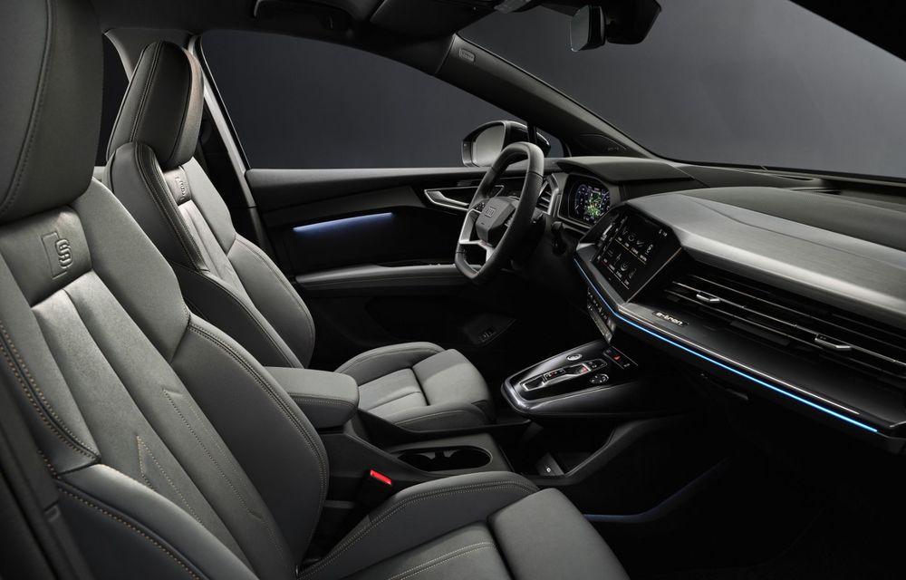 Audi Q4 e-tron: primele imagini și informații din interiorul SUV-ului electric - Poza 5