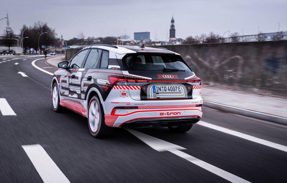 Audi Q4 e-tron: primele imagini și informații din interiorul SUV-ului electric - Poza 41