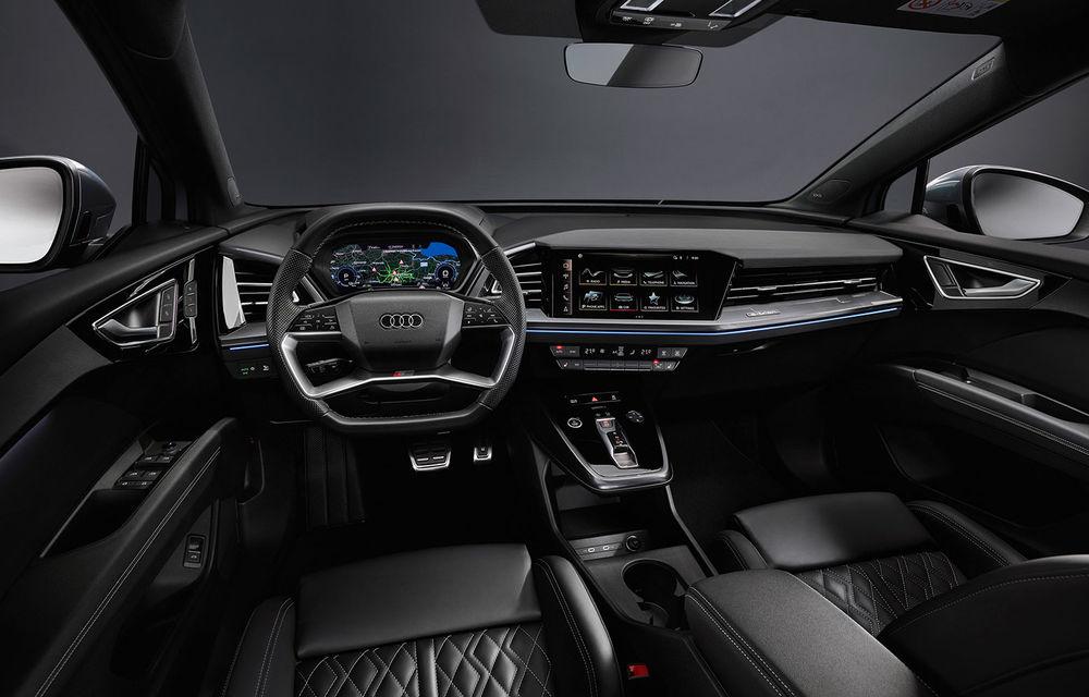 Audi Q4 e-tron: primele imagini și informații din interiorul SUV-ului electric - Poza 1