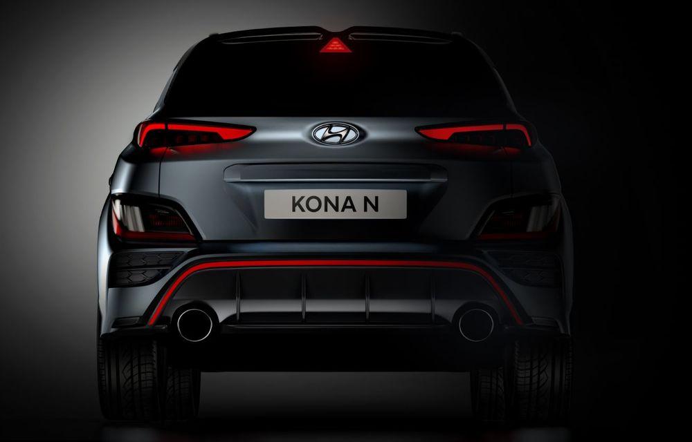Primele imagini-teaser cu noul Hyundai Kona N: SUV-ul de performanță va avea motor de 2 litri și transmisie automată - Poza 4