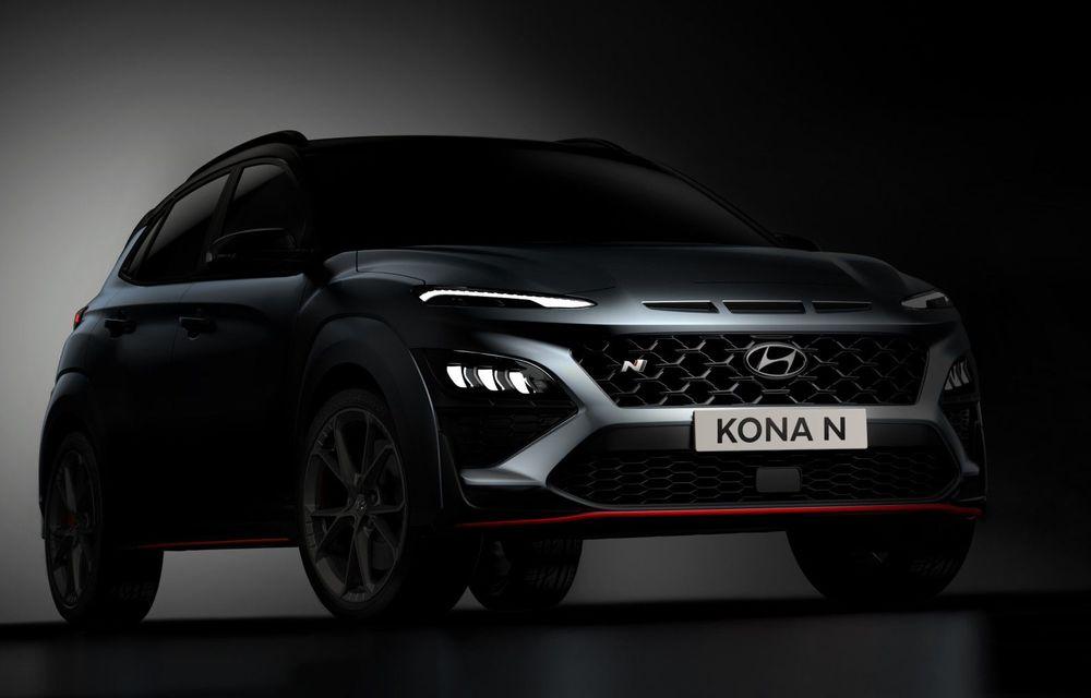 Primele imagini-teaser cu noul Hyundai Kona N: SUV-ul de performanță va avea motor de 2 litri și transmisie automată - Poza 1