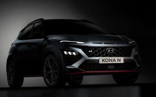 Primele imagini-teaser cu noul Hyundai Kona N: SUV-ul de performanță va avea motor de 2 litri și transmisie automată