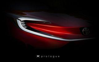 Teaser cu noua Toyota X Prologue. Ar putea anunța un SUV compact cu zero emisii