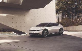 Noul Kia EV6, primele imagini ale crossover-ului electric, frate cu Hyundai Ioniq 5