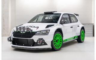 Skoda aniversează 120 de ani în motorsport cu modelul de stradă Fabia Rally2 Evo Edition 120