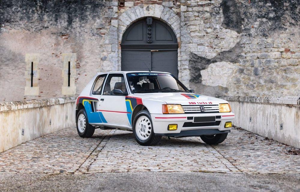 Una dintre legendele Grupei B, acest Peugeot 205 Turbo 16 s-ar putea vinde cu 400.000 de euro la licitație - Poza 1