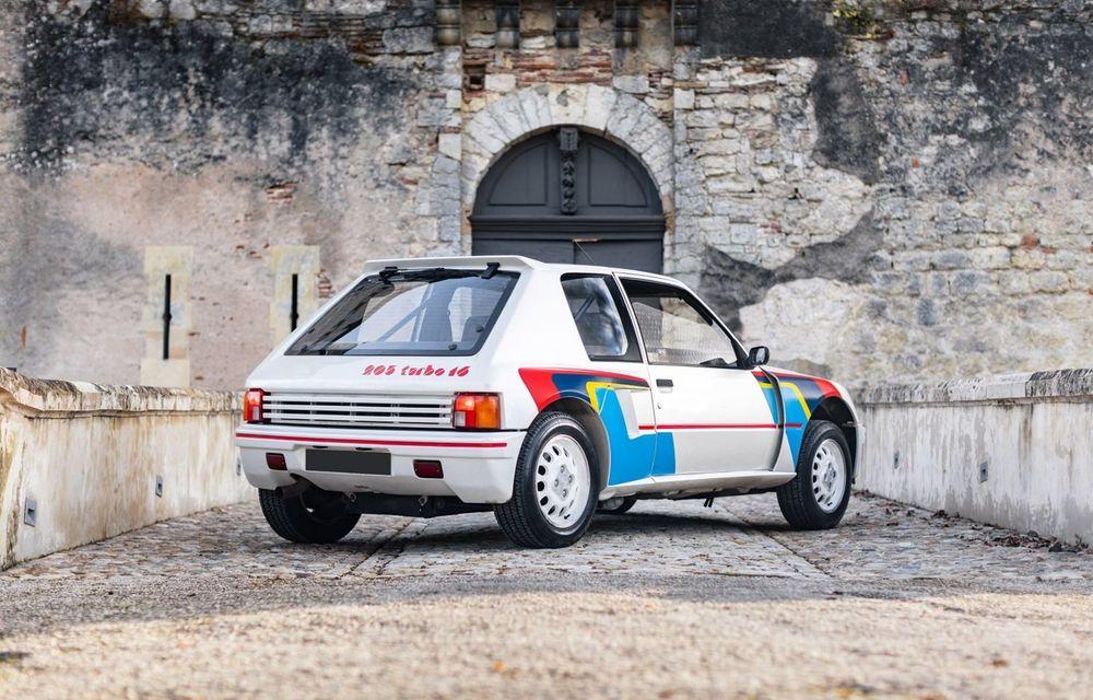 Una dintre legendele Grupei B, acest Peugeot 205 Turbo 16 s-ar putea vinde cu 400.000 de euro la licitație - Poza 2