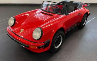 În 1983, Porsche a construit o mașină pentru copii, cu motor pe benzină. Acum costă cât o mașină adevărată