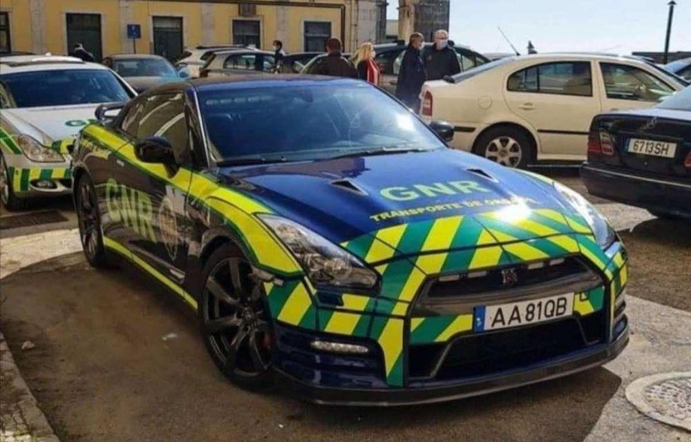 Nissan GT-R, confiscat și folosit de Jandarmeria Portughează pentru transportul de organe - Poza 1
