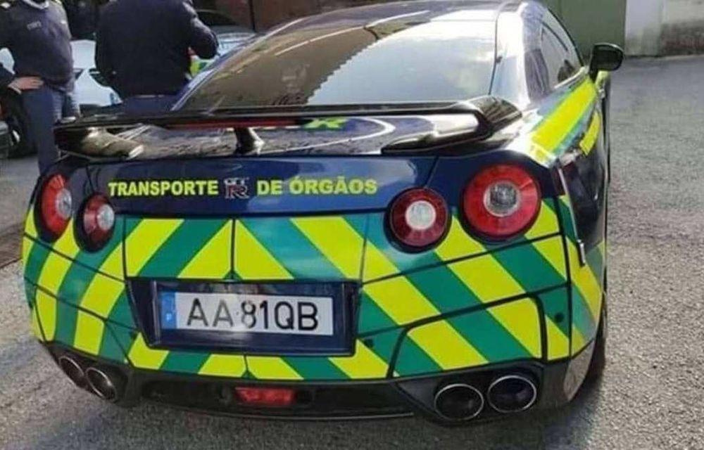 Nissan GT-R, confiscat și folosit de Jandarmeria Portughează pentru transportul de organe - Poza 2