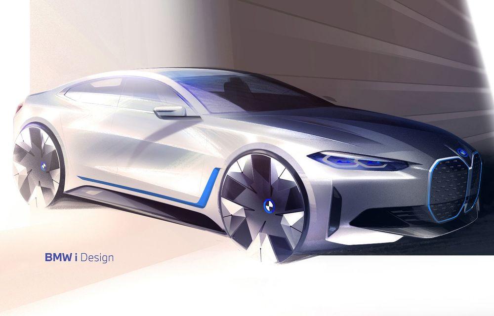 Primele informații și imagini cu noul BMW i4, sedanul electric cu 590 km autonomie - Poza 7