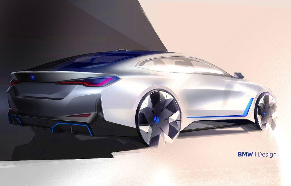 Primele informații și imagini cu noul BMW i4, sedanul electric cu 590 km autonomie - Poza 8