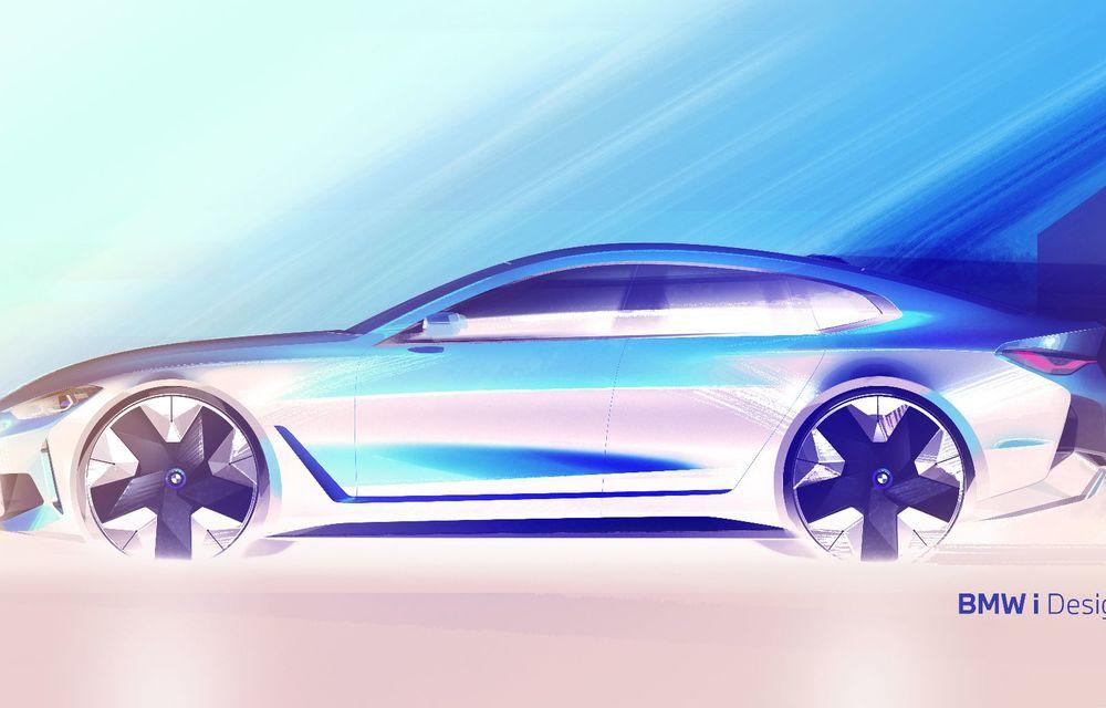Primele informații și imagini cu noul BMW i4, sedanul electric cu 590 km autonomie - Poza 9