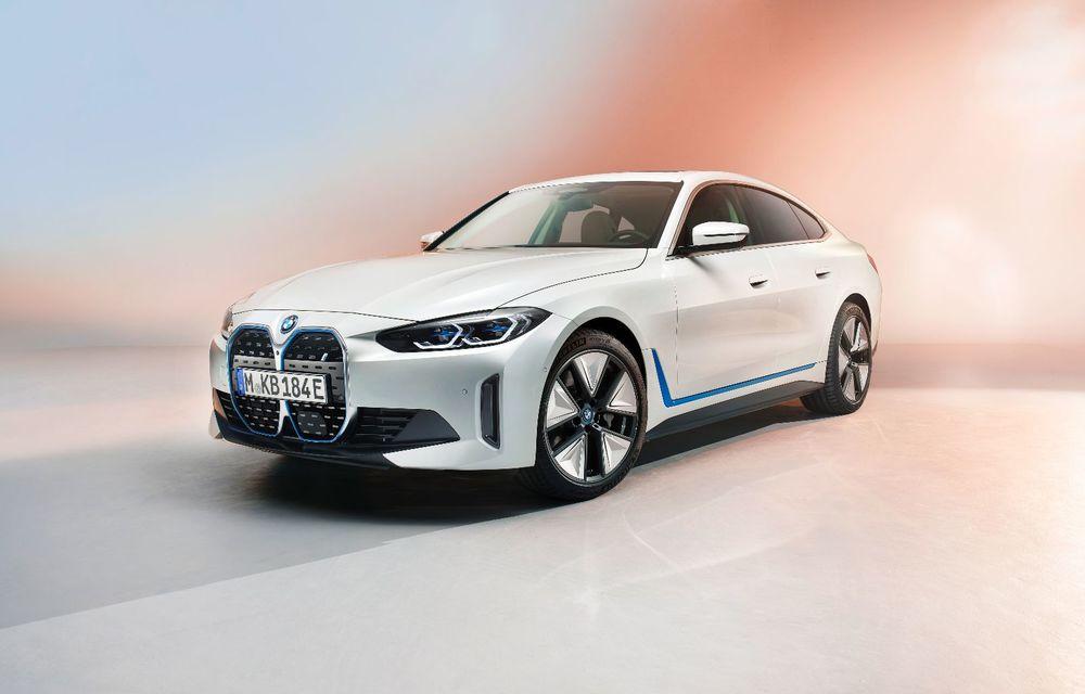 Primele informații și imagini cu noul BMW i4, sedanul electric cu 590 km autonomie - Poza 1