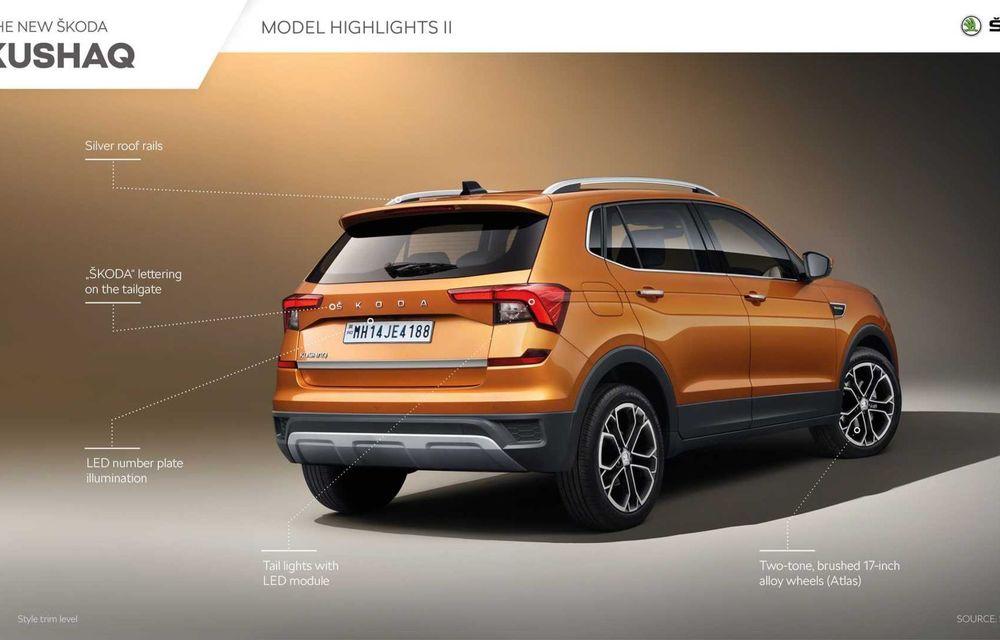 Skoda lansează noul Kushaq: SUV disponibil exclusiv pe piața din India - Poza 21