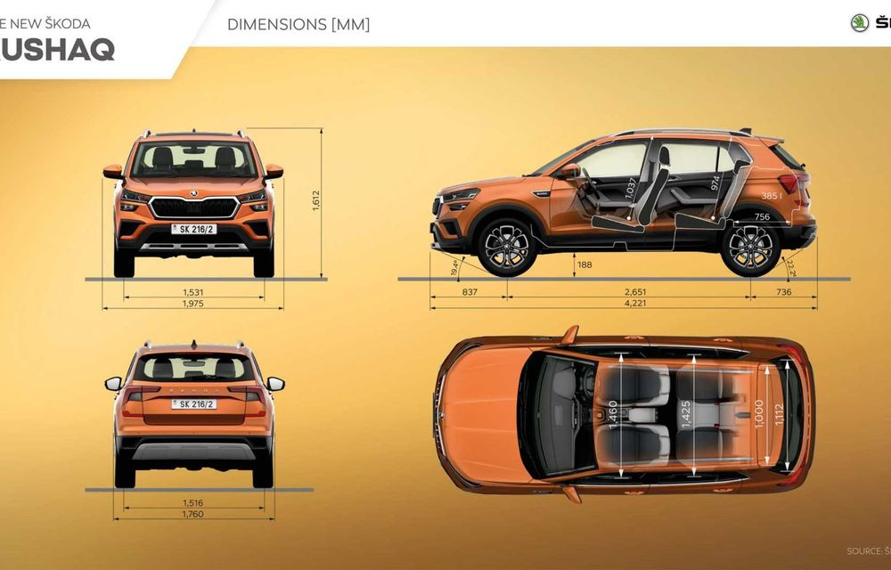 Skoda lansează noul Kushaq: SUV disponibil exclusiv pe piața din India - Poza 22