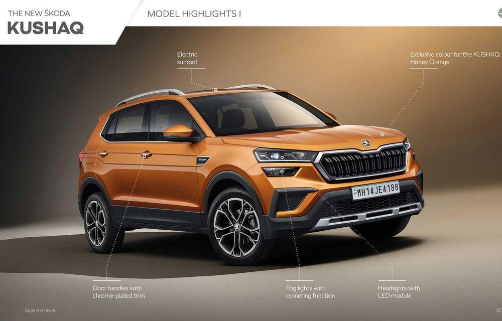 Skoda lansează noul Kushaq: SUV disponibil exclusiv pe piața din India - Poza 20