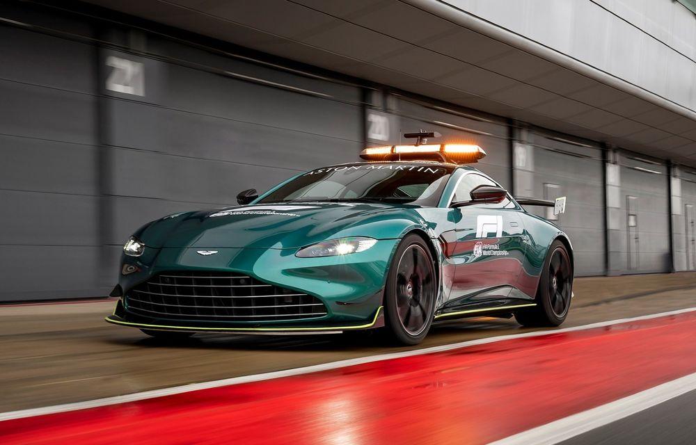 Teaser: Aston Martin pregătește o ediție specială pentru Vantage, inspirată de Safety Car-ul din Formula 1 - Poza 2