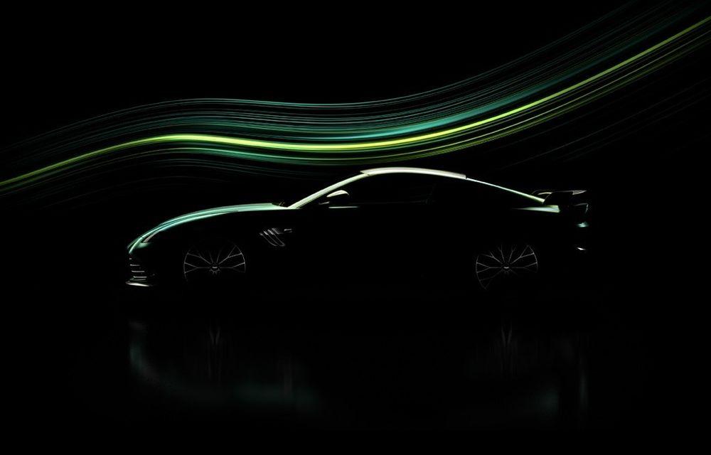 Teaser: Aston Martin pregătește o ediție specială pentru Vantage, inspirată de Safety Car-ul din Formula 1 - Poza 1