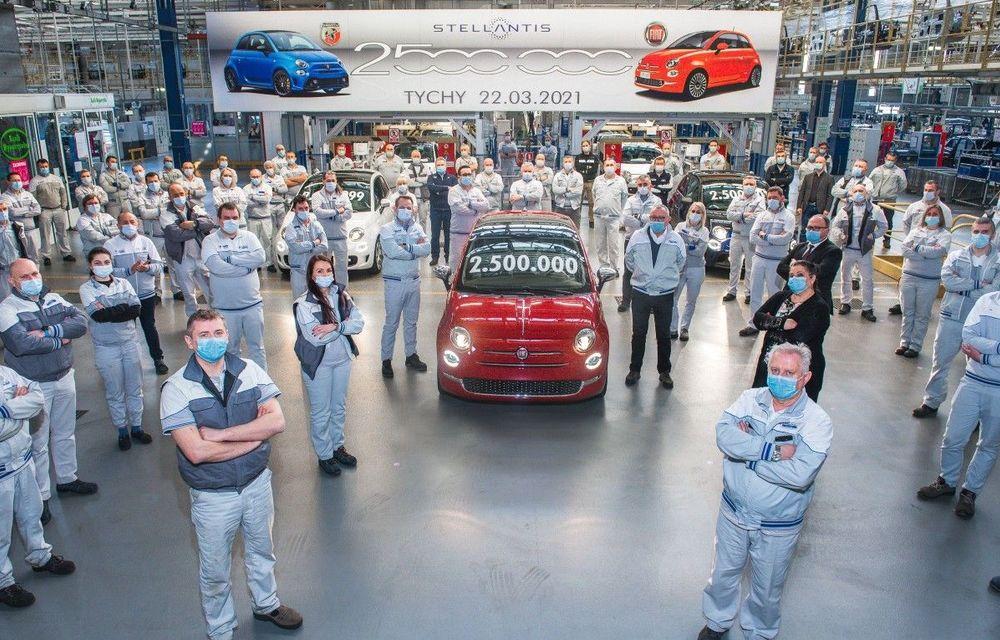 Sărbătoare la Fiat: uzina din Polonia a produs 2.500.000 de unități ale modelului 500 - Poza 1
