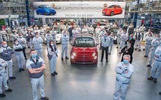 Sărbătoare la Fiat: uzina din Polonia a produs 2.500.000 de unități ale modelului 500