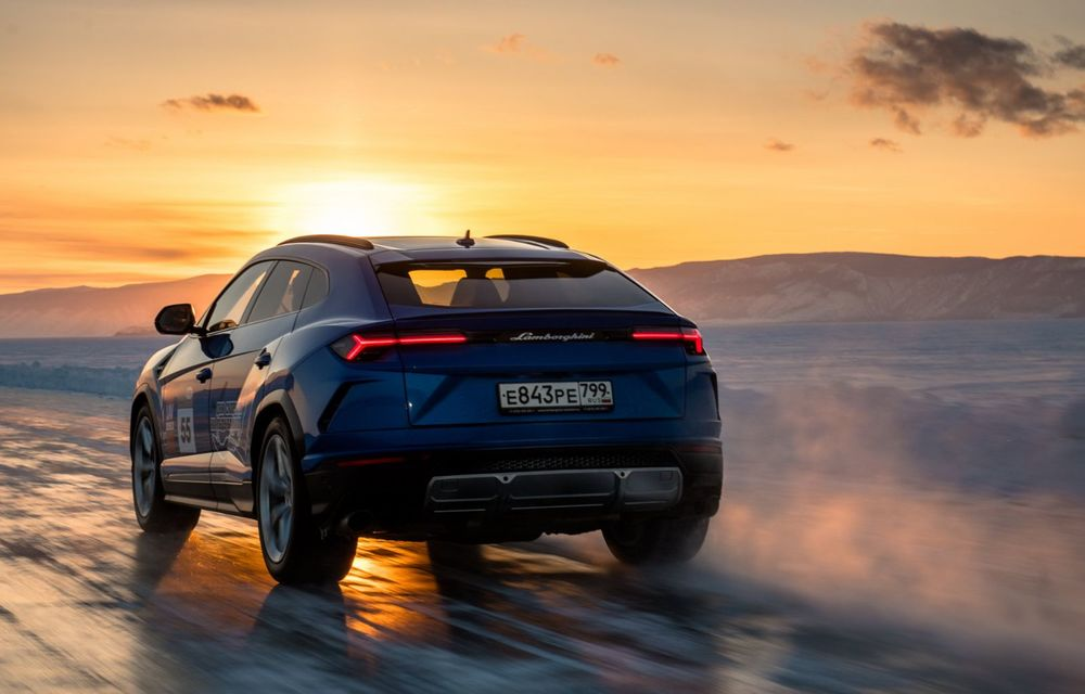 Lamborghini Urus stabilește un record mondial de viteză pe gheață: SUV-ul a atins 298 km/h - Poza 7