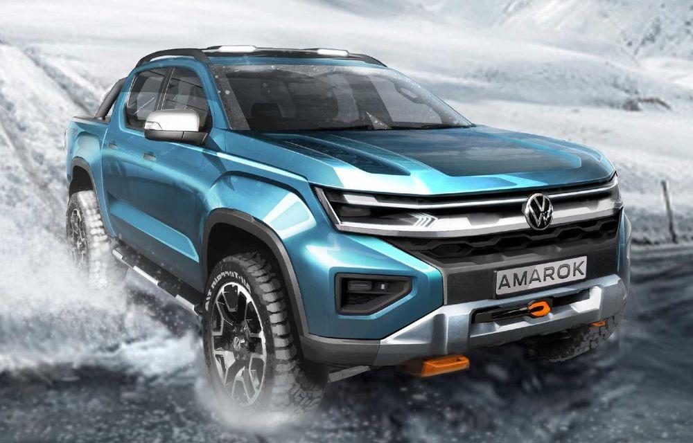 Volkswagen a publicat un nou teaser cu viitorul Amarok. Debutează în 2022 - Poza 1