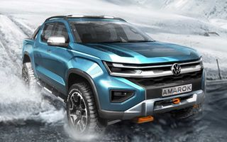Volkswagen a publicat un nou teaser cu viitorul Amarok. Debutează în 2022