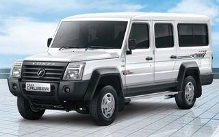 Force Motors Trax Cruiser este un SUV cu 12 locuri care vine din India