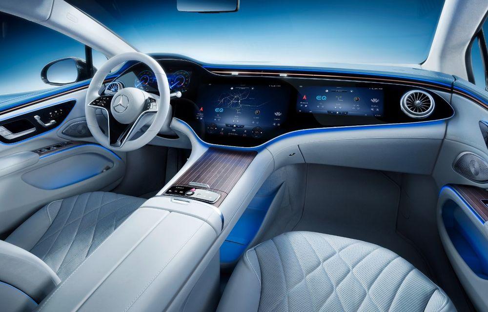 Mercedes a publicat primele imagini cu interiorul noului sedan electric EQS - Poza 6