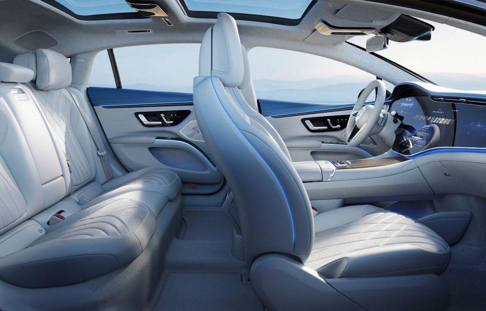 Mercedes a publicat primele imagini cu interiorul noului sedan electric EQS - Poza 28