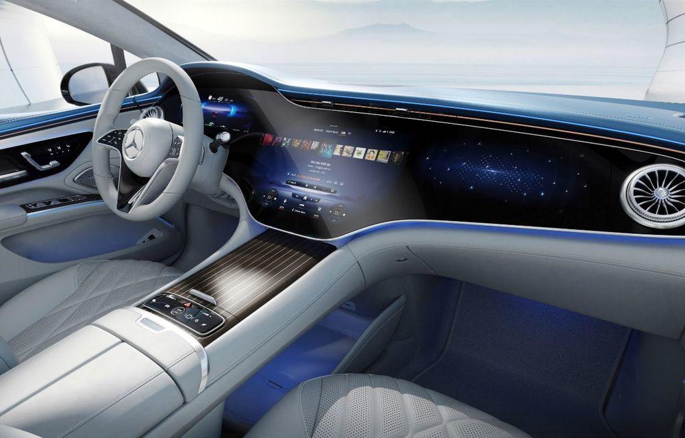 Mercedes a publicat primele imagini cu interiorul noului sedan electric EQS - Poza 30