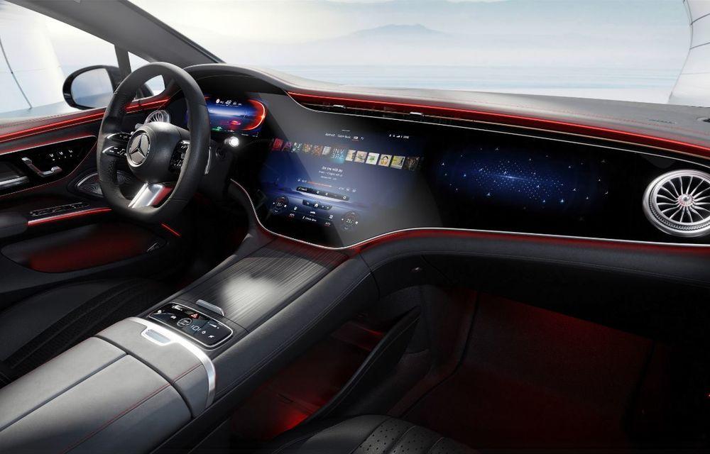 Mercedes a publicat primele imagini cu interiorul noului sedan electric EQS - Poza 24