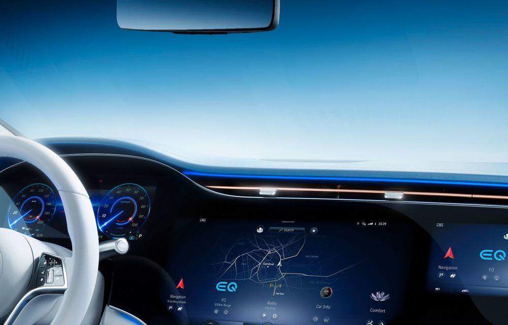 Mercedes a publicat primele imagini cu interiorul noului sedan electric EQS - Poza 9