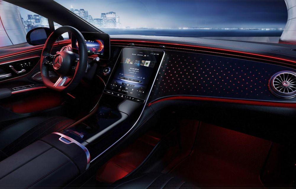 Mercedes a publicat primele imagini cu interiorul noului sedan electric EQS - Poza 25