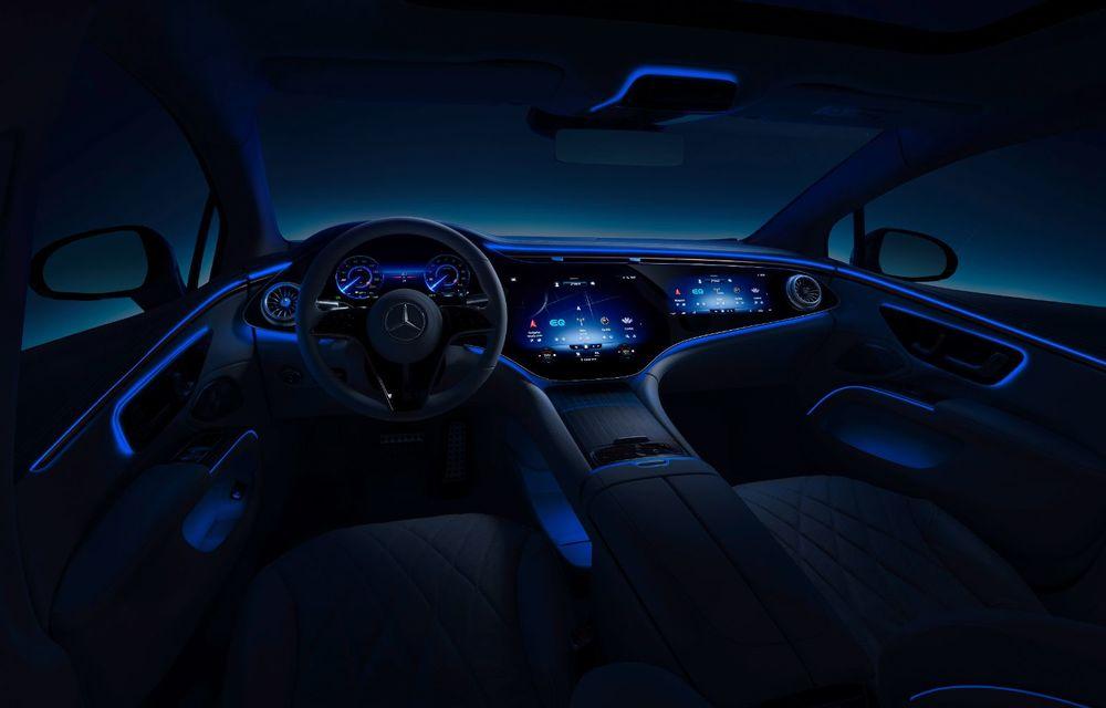 Mercedes a publicat primele imagini cu interiorul noului sedan electric EQS - Poza 14