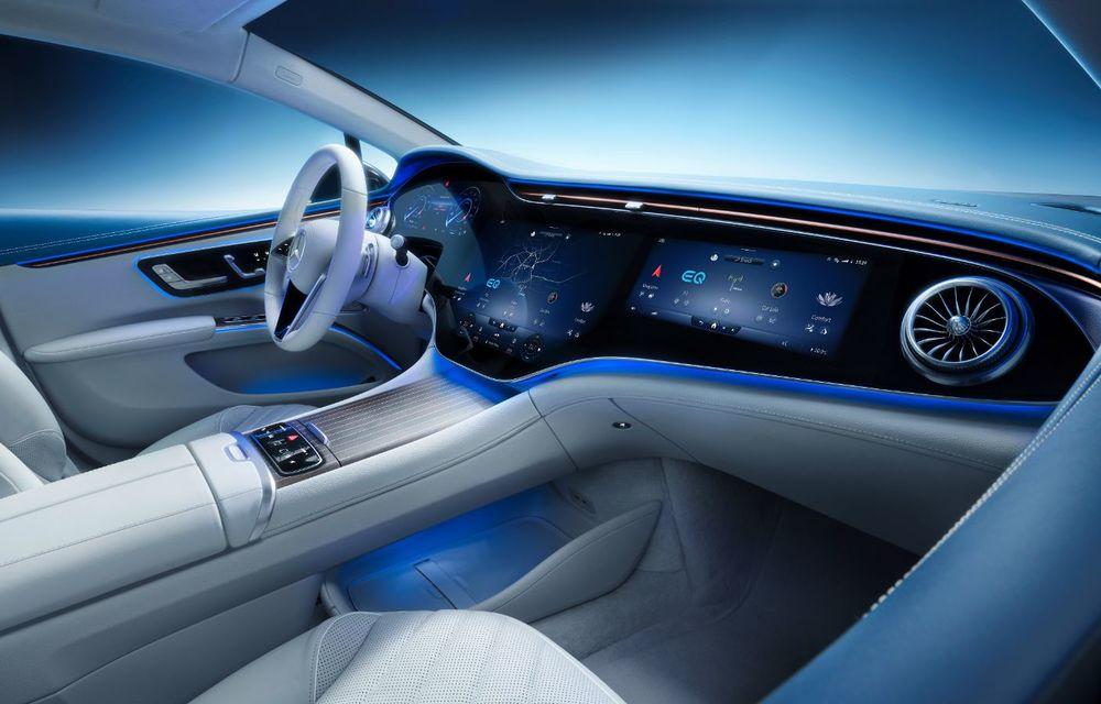 Mercedes a publicat primele imagini cu interiorul noului sedan electric EQS - Poza 5
