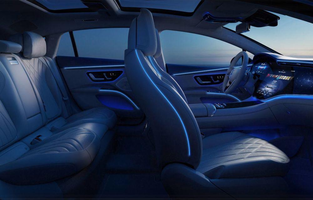 Mercedes a publicat primele imagini cu interiorul noului sedan electric EQS - Poza 29