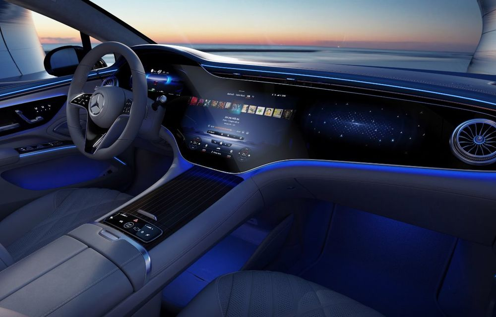 Mercedes a publicat primele imagini cu interiorul noului sedan electric EQS - Poza 31