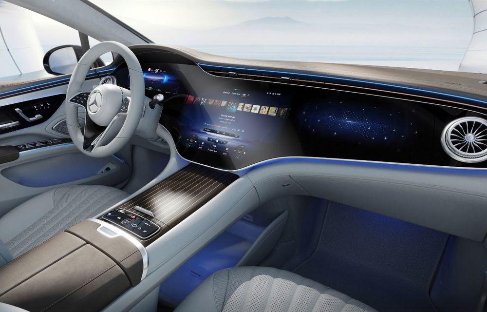 Mercedes a publicat primele imagini cu interiorul noului sedan electric EQS - Poza 26