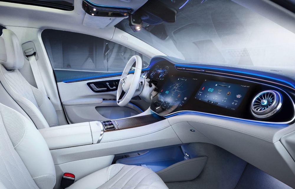Mercedes a publicat primele imagini cu interiorul noului sedan electric EQS - Poza 2