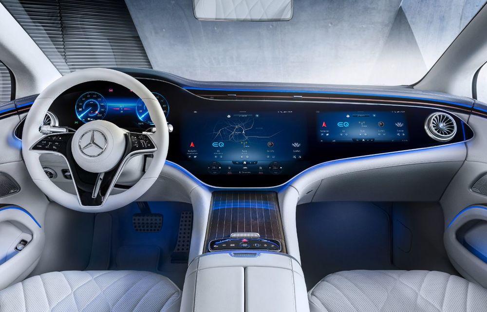 Mercedes a publicat primele imagini cu interiorul noului sedan electric EQS - Poza 3