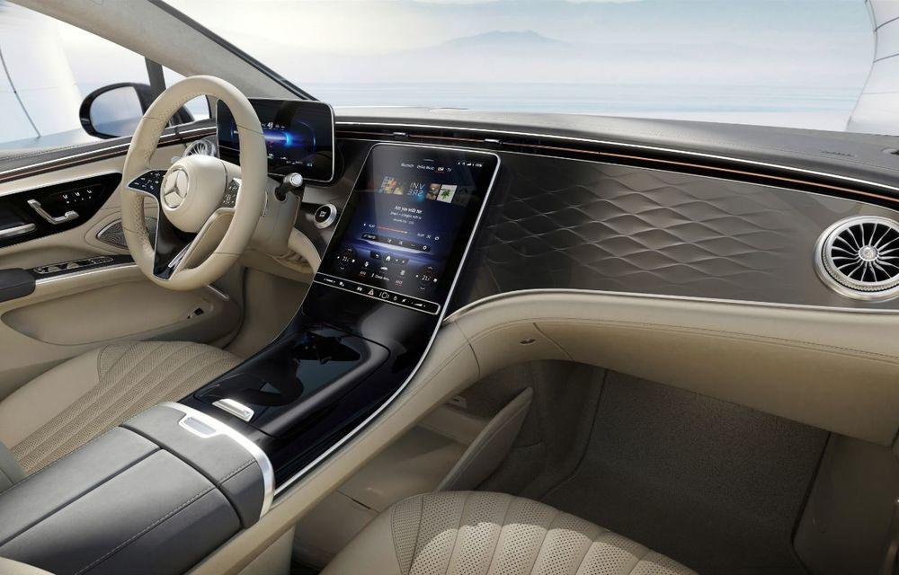 Mercedes a publicat primele imagini cu interiorul noului sedan electric EQS - Poza 33