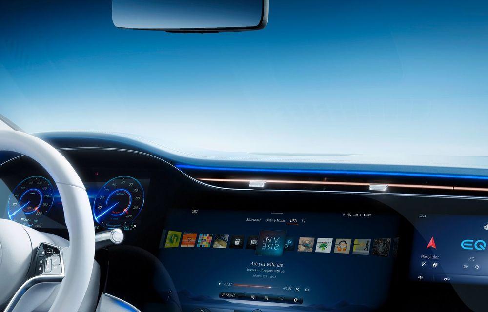 Mercedes a publicat primele imagini cu interiorul noului sedan electric EQS - Poza 10