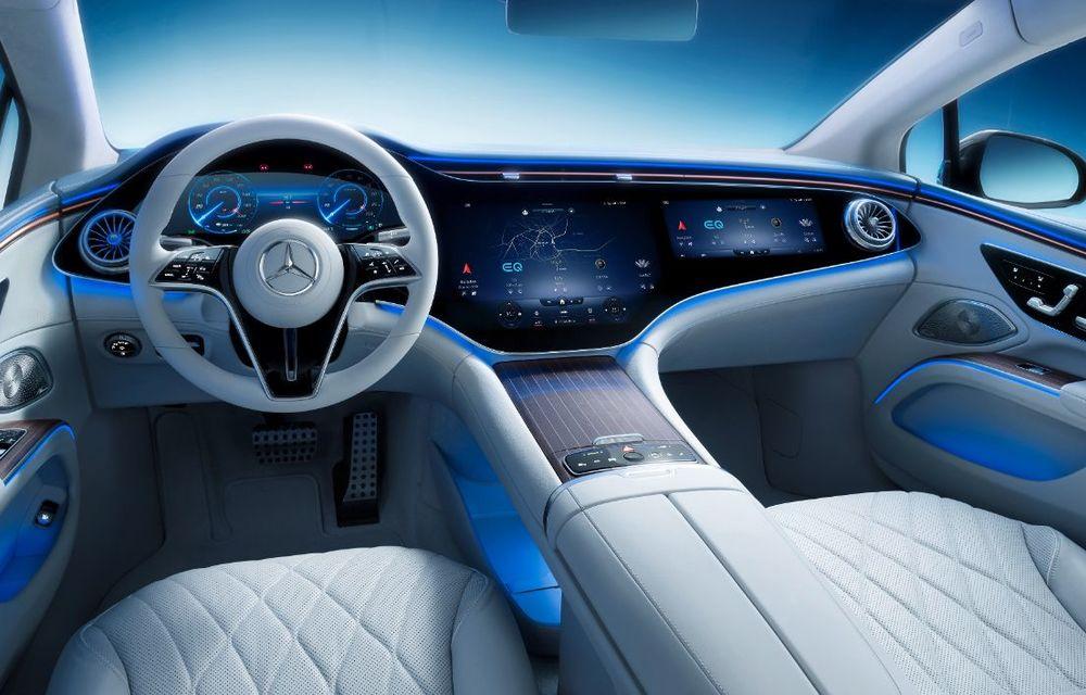 Mercedes a publicat primele imagini cu interiorul noului sedan electric EQS - Poza 7