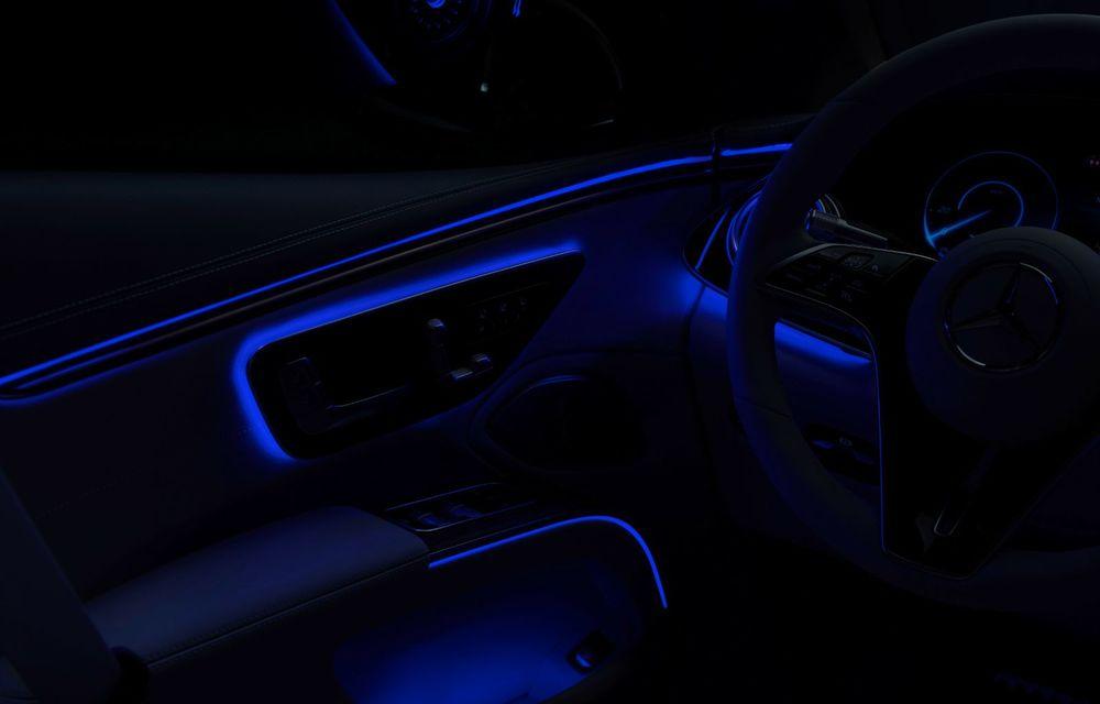 Mercedes a publicat primele imagini cu interiorul noului sedan electric EQS - Poza 17