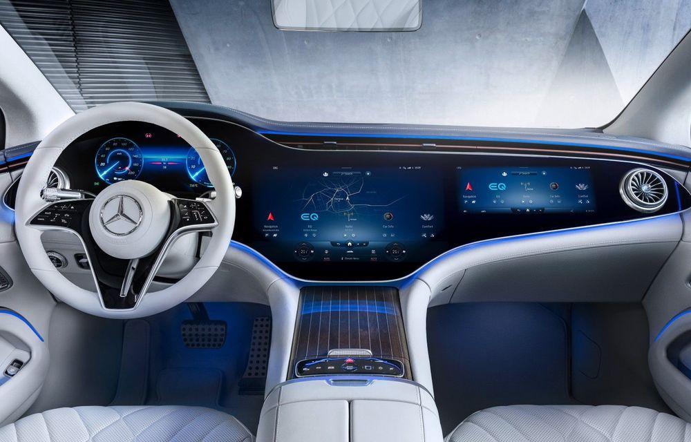 Mercedes a publicat primele imagini cu interiorul noului sedan electric EQS - Poza 1