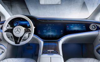 Mercedes a publicat primele imagini cu interiorul noului sedan electric EQS