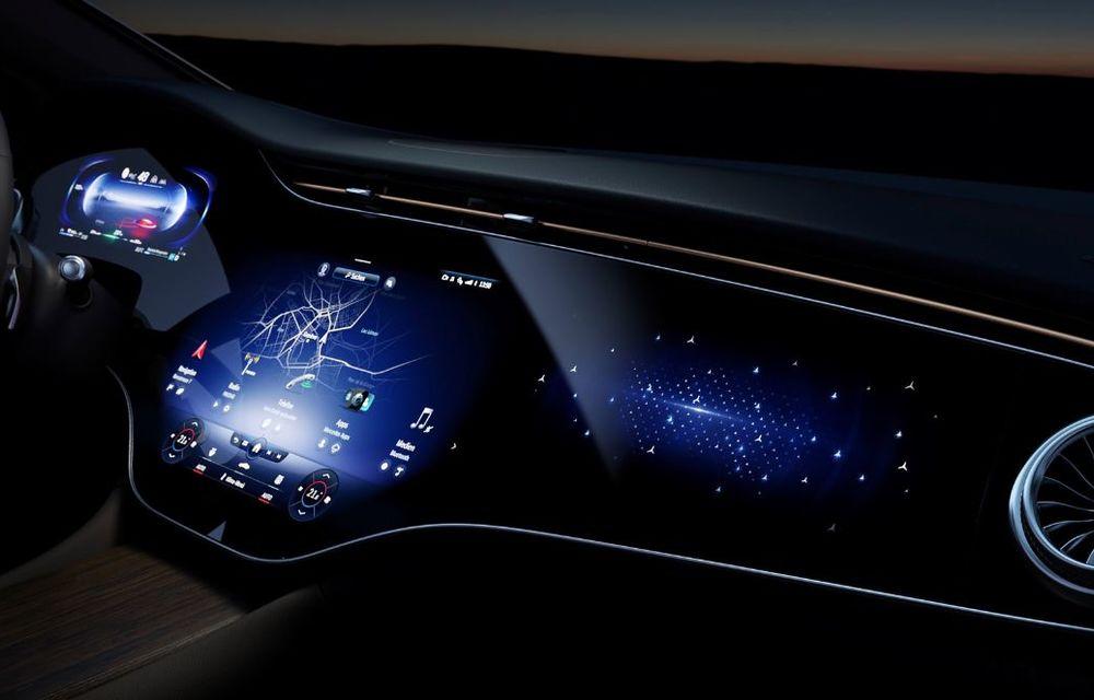 Mercedes a publicat primele imagini cu interiorul noului sedan electric EQS - Poza 21